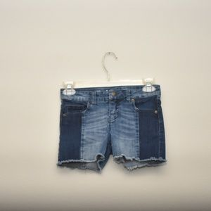 Cat and Jack Girls Raw Hemmed Jean Shorts 7/8